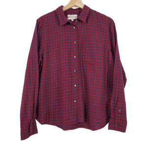 Madewell Shrunken Gingham Plaid Shirt Size L